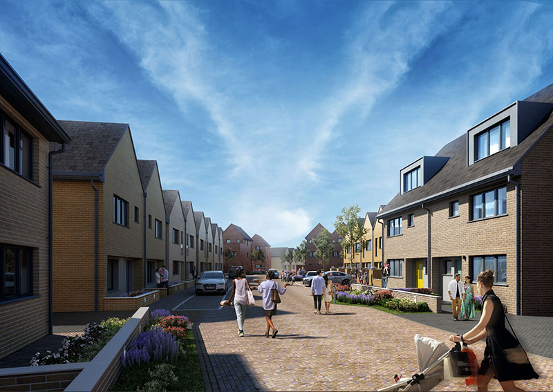 Artist's impression of low-rise housing (Image: Broadway Malyan)