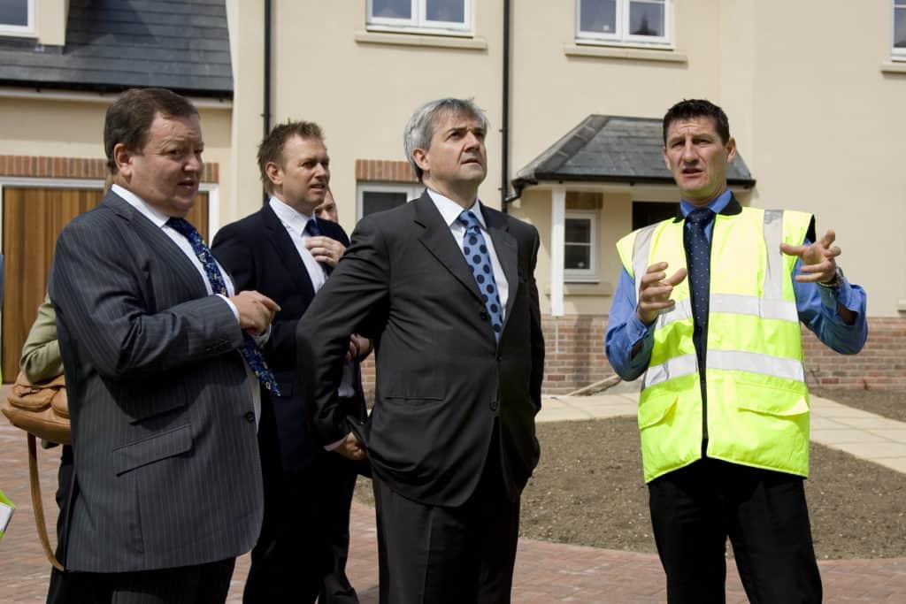 Completion Brookwood Farm MP Chris Huhne & CEO Ray Morgan