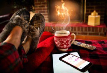 Slippers & warm fire